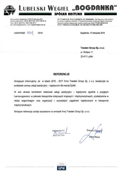 Referencje Bogdanka